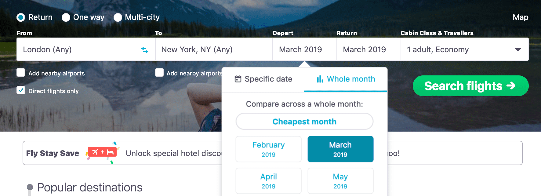 Skyscanner Destination